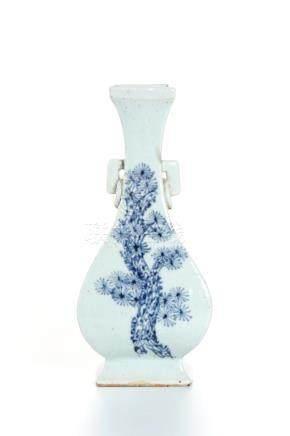 Chinese Blue and White Hu-Shaped Vase