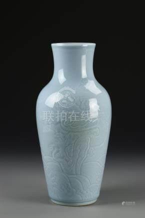 Chinese Blue Glazed Vase