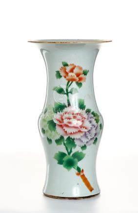 Chinese Famille Rose Beaker Vase