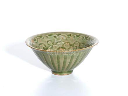 Chinese 'Yaozhou' Celadon Glazed Bowl