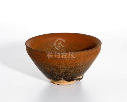 Chinese 'Jian' Glazed 'Hares Fur' Bowl