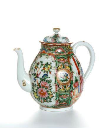 Chinese Canton Famille Rose Teapot