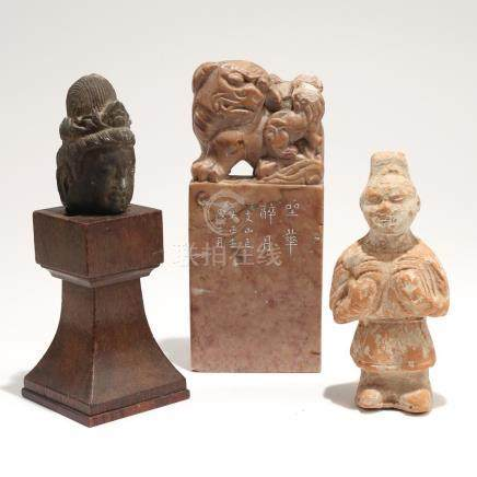 (3pc) MISC. ASIAN CARVINGS