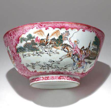 SAMSON CHINESE EXPORT-STYLE PUNCH BOWL