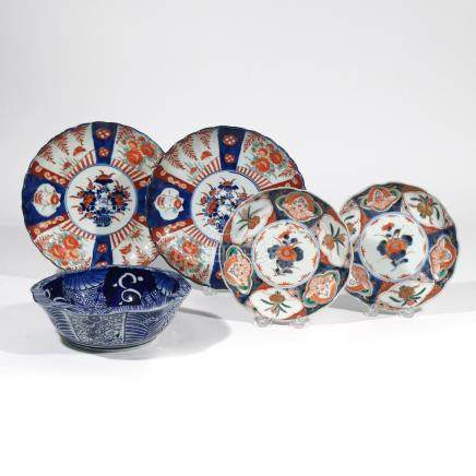 (5pc) MISC. CHINESE EXPORT & JAPANESE PORCELAIN