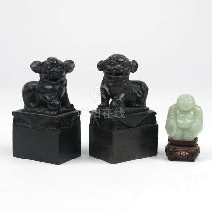(3pc) CHINESE STONE CARVINGS