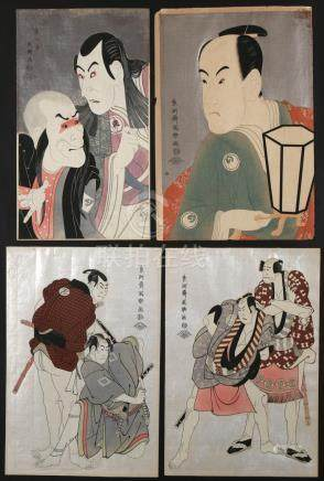 (4pc) AFTER TOSHUSAI SHARAKU (active 1794-1795)