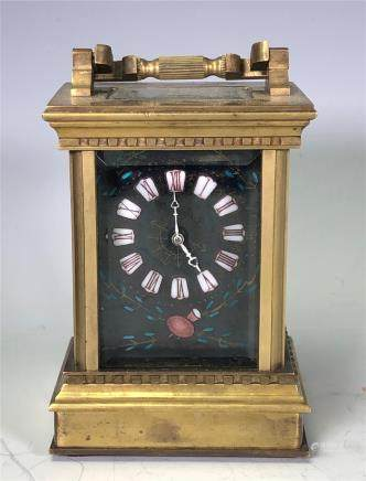 Gilt And Enamel Bronze Clock
