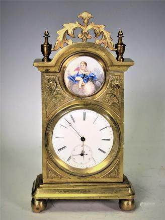 Gilt Bronze Clock