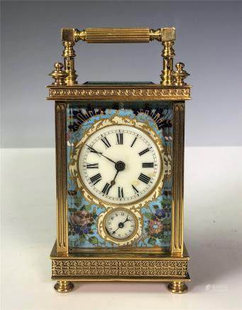 Gilt and Enamel Mantle Clock