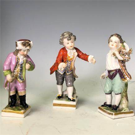 Three Porcelain Figures With Mark