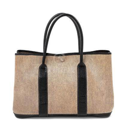 Hermes Toile and Indigo Garden Party MM Tote