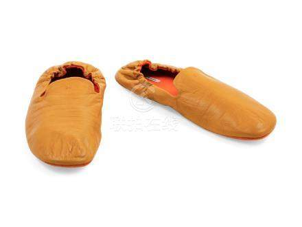 Hermes Leather Slippers,