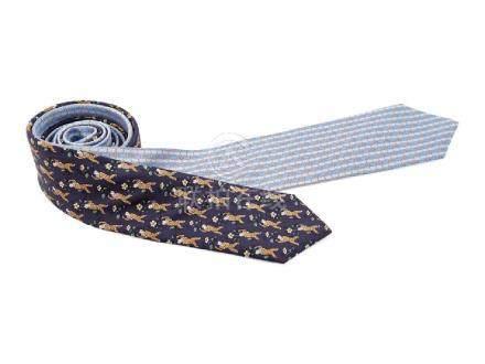 Pair of Hermes Ties