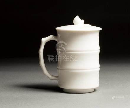 A XIAOFANG KILN WHITE-GLAZED 'BAMBOO' CUP