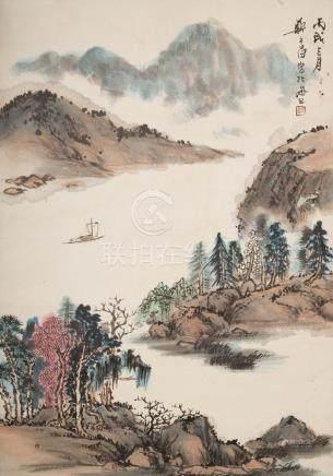ZHENG WUCHANG(1894~1952), LANDSCAPE PAINTING