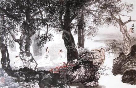 LI YIHONG(b.1941), SCHOLARS UNDER PINE TREE