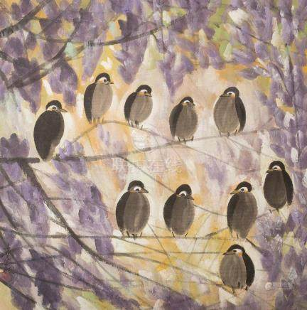 LIN FENGMIAN(1900~1991), BIRDS GROUP PAINTING