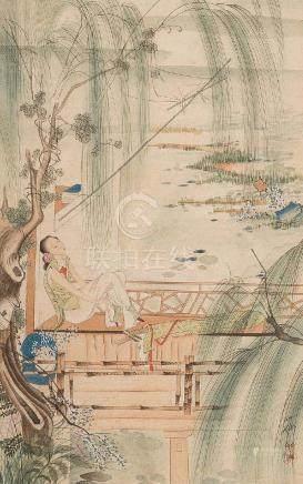 HU YEFO, FIGURES OF A LADY