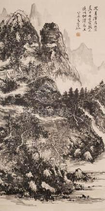 HUANG BINHON(1865~1955), LANDSCAPE PAINTING