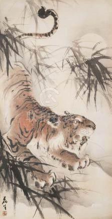 HUANG LEISHENG(1928~2011), ROARS OF A TIGER