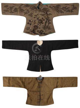 A GROUP OF EMBROIDERED SILK ROBES