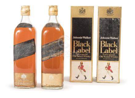 TWO BOTTLES OF JOHNNIE WALKER WHISKY, 1970 PERIOD