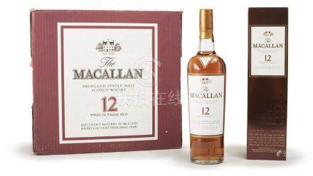 A BOTTLE OF MACALLAN 12 YEARS WHISKY