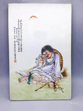 民國王琦瓷板畫