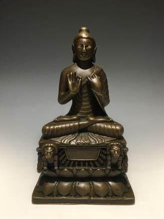 十世纪克什米尔铜坐佛