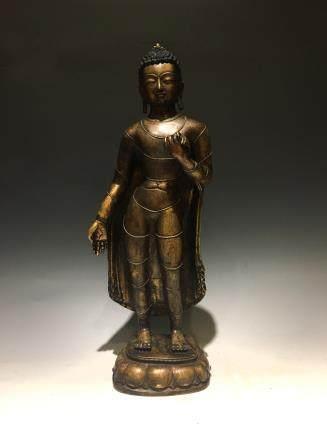 十三世纪藏南铜站佛