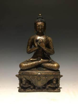 十六世纪克什米尔铜坐佛