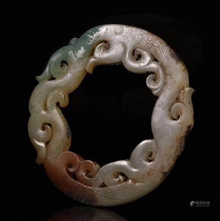 汉代 龙形玉环