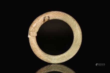汉代黑暗与青龙纹环