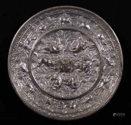 唐代 海兽葡萄镜