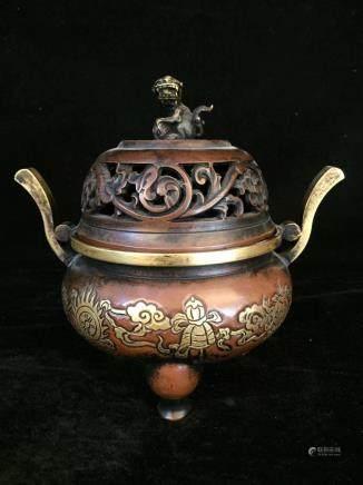 明代銅香爐