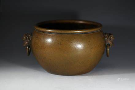 乾隆年制款铜香炉