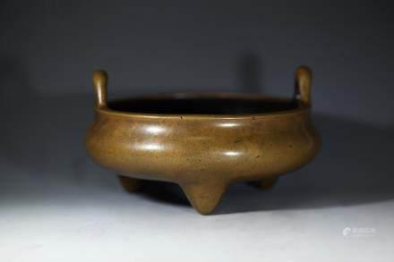玉堂精玩款铜香炉