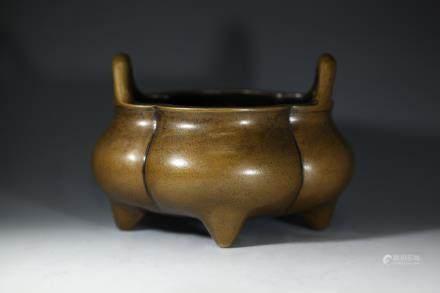 崇祯乙玄云台主人製款铜香炉