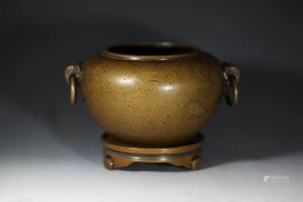 宣字款铜香炉