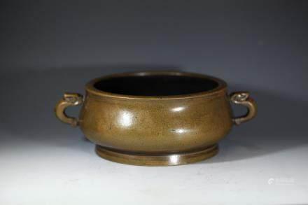 世古之宝款铜香炉
