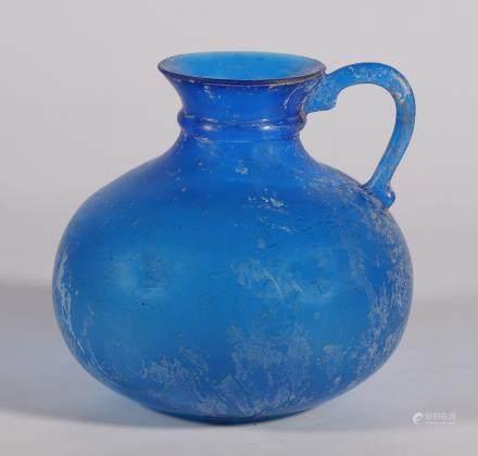 唐代 蓝釉琉璃壶