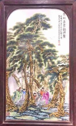 民國名家瓷板畫