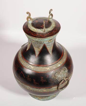 战国 铜胎彩绘壶