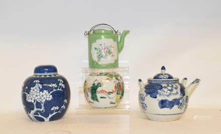 Assorted Chinese ginger jars, bowls and other items (2 boxes)