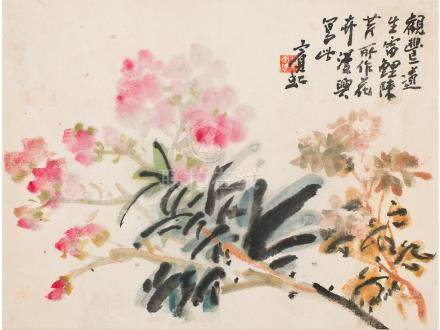 黃賓虹  花卉