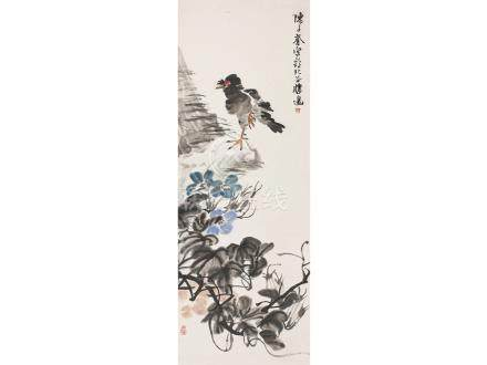 陳子奮  花鳥