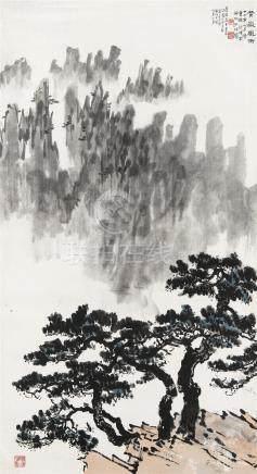 徐悲鸿(1895~1953)  1938年作 黄岳风雨 立轴 设色纸本