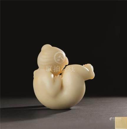 韩美林  母与子现代雕塑