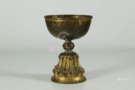 Rare Ming dynasty gilt bronze temple oil lighter